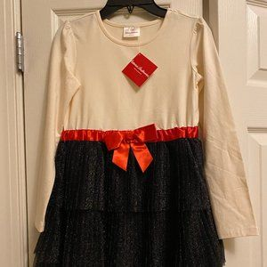 Festive Hanna Andersson Dress with bow and frills